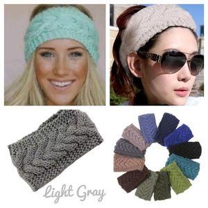 Accessories - Light Gray Knitted Headband